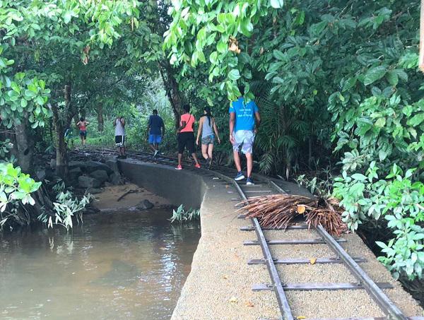 chemin de fer saut matipas rafting guyane