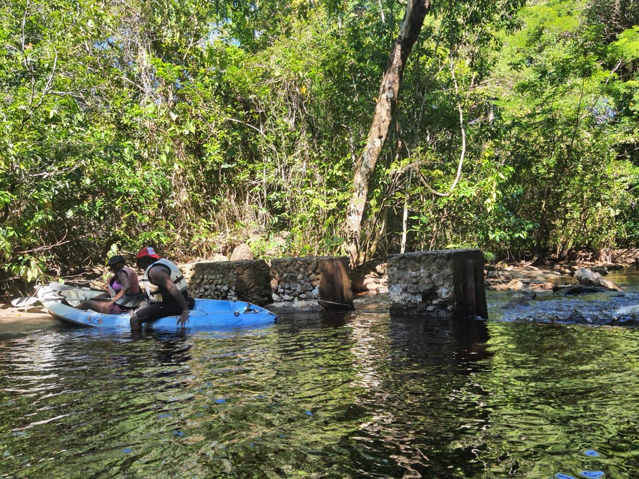 Balade sur la crique Pripri de Yiyi en canoë